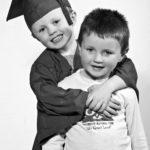 Preschool Graduation portrait with brother