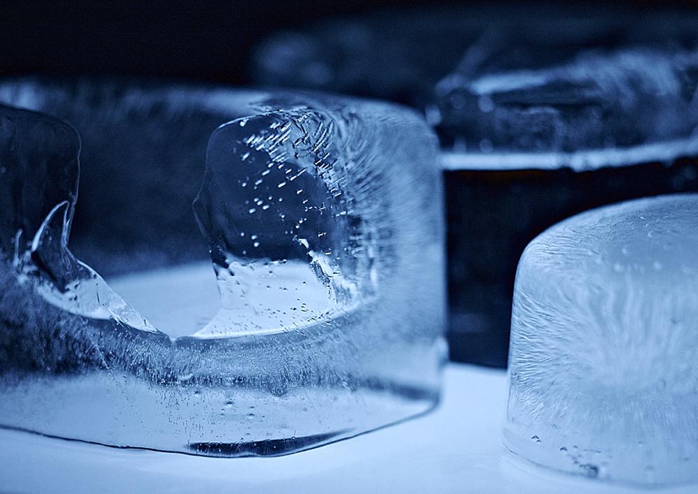 Macro Ice Cubes