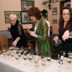 Jill Hannon & staff preparing the wine