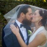 Wedding-Couple kissing
