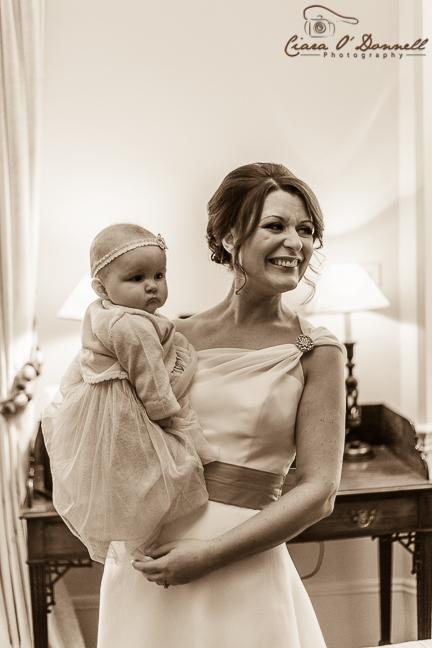 Beautiful bride & daughter
