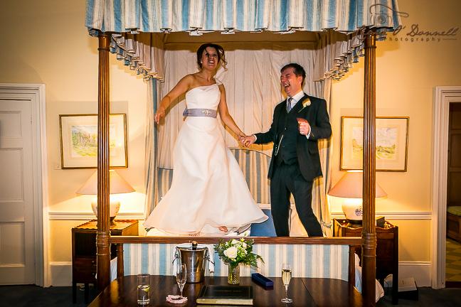 bride & groom bouncing