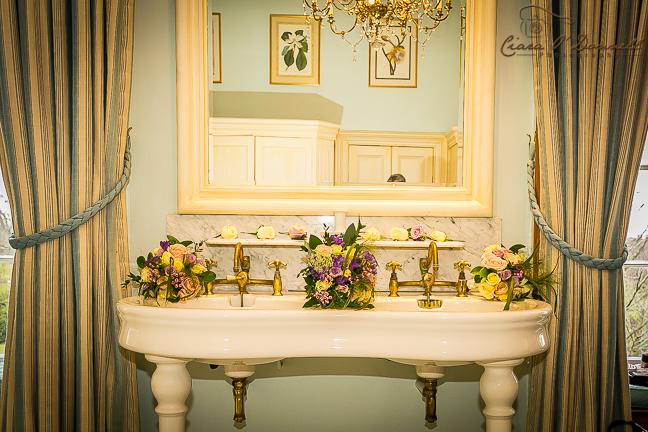 Flowers in the en suite